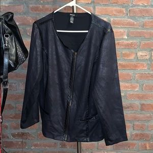 Awesome 1X Microsuede Motorcycle Jacket /Blazer